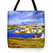 Winter Gathering Place Tote Bag