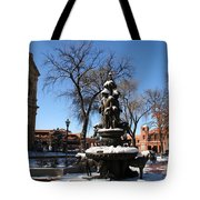 Winter In Cathedral Park Santa Fe Tote Bag