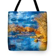 Winter In Salida -- Renoir Tote Bag