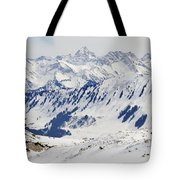Winter In The Alps - Snow Covered Mountains Tote Bag