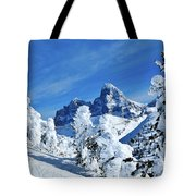 Winter In The Tetons Tote Bag
