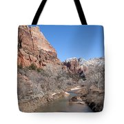 Winter In Zion Tote Bag