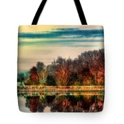 Winter Lake Fantasm Tote Bag