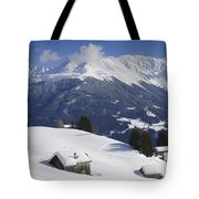 Winter Landscape In The Mountains Tote Bag by Matthias Hauser