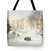 Winter On Ravensdale Road Tote Bag