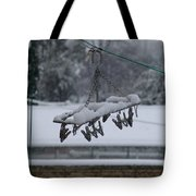 Winter Pegs Tote Bag