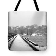 Winter Rails Tote Bag