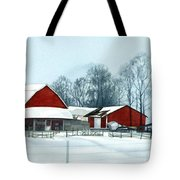 Winter Respite In The Heartland Tote Bag