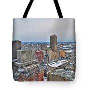 Winter Scene Downtown Buffalo Tote Bag