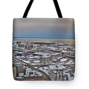 Winter Scene Land And Water Tote Bag