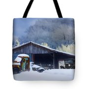 Winter Shed Tote Bag by Ron Jones