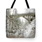 Winter, Shepperds Dell, Columbia River Tote Bag