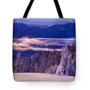 Winter Snow, Cascade Range, Oregon, Usa Tote Bag