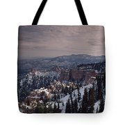 Winter Snow Covers The Landscape Tote Bag