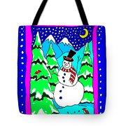 Winter Snowman Tote Bag