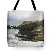 Winter Storm At Dunottar Tote Bag