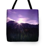 Winter Sun Winking Over The Mountains Tote Bag
