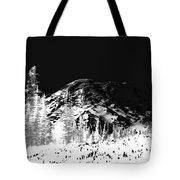 Winter Sunrise On Mount Rainier Tote Bag