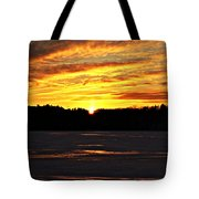 Winter Sunset I Tote Bag