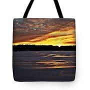 Winter Sunset Iv Tote Bag