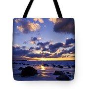 Winter Sunset On Lake Michigan - Fm000053 Tote Bag