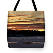 Winter Sunset V Tote Bag