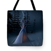 Winter Teepee Tote Bag