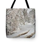 Winter Tracks Tote Bag