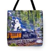 Winter Train Tote Bag