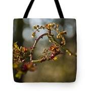 Winter Wild Rose Heart Tote Bag