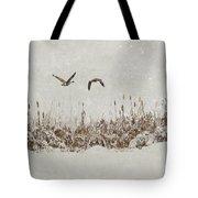Winter Wings Tote Bag