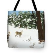 Wintering Whitetails Tote Bag