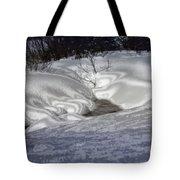 Winter's Satin Blanket Tote Bag
