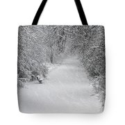 Winter's Trail Tote Bag