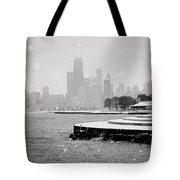 Wintery Chicago Tote Bag