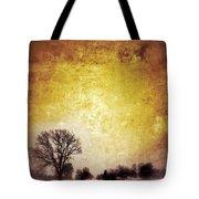 Wintery Road Sunrise Tote Bag by Jill Battaglia