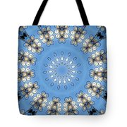 Wire Flowers And Butterflies Tote Bag