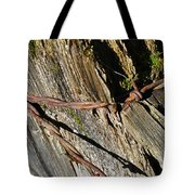 Wired Fence Post Tote Bag