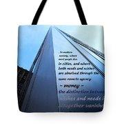 Wishes And Needs Tote Bag