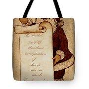 Wishlist For Santa Claus  Tote Bag
