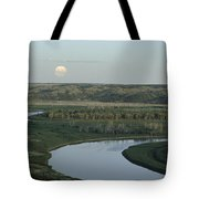 With A Full Moon Rising, The Meandering Tote Bag