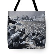 With His Men Concealed Fetterman Waited For The Marauding Indians Tote Bag