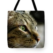 With Intense Focus Tote Bag