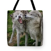 Wolf Confab Tote Bag
