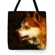 Wolf Or Husky - First Place Win In 'angry Dog Contest' Tote Bag