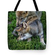Wolf Play Tote Bag