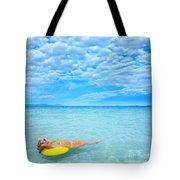 Woman And Ocean Tote Bag