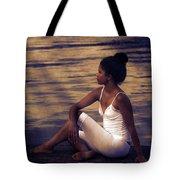 Woman At A Lake Tote Bag by Joana Kruse