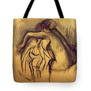 Woman Drying Tote Bag by Edgar Degas