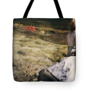 Woman In A River Tote Bag